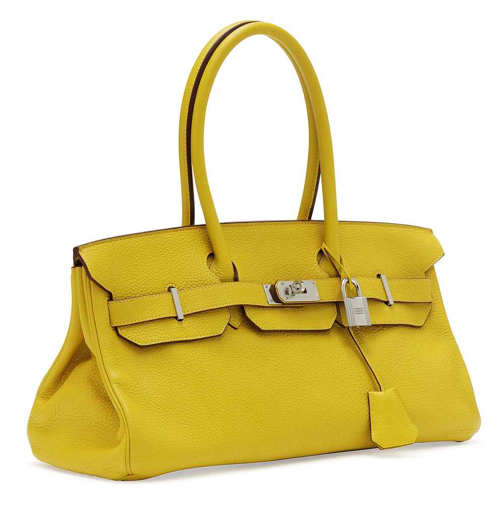 inexpensive clutch purses - a_yellow_leather_shoulder_birkin_ii_bag_hermes_2009_d5761438_002g.jpg
