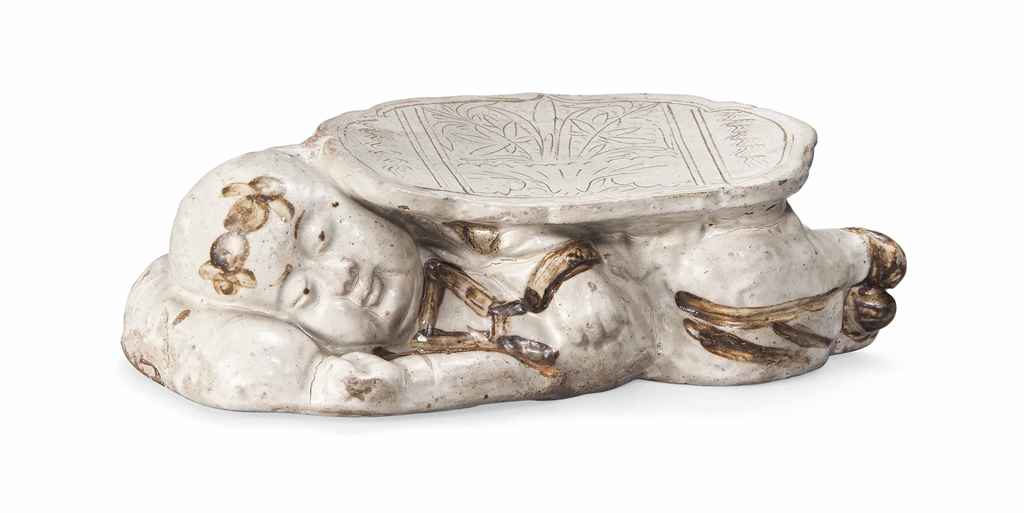 A Chinese Cizhou Pottery 39 Sleeping Boy 39 Pillow Ming