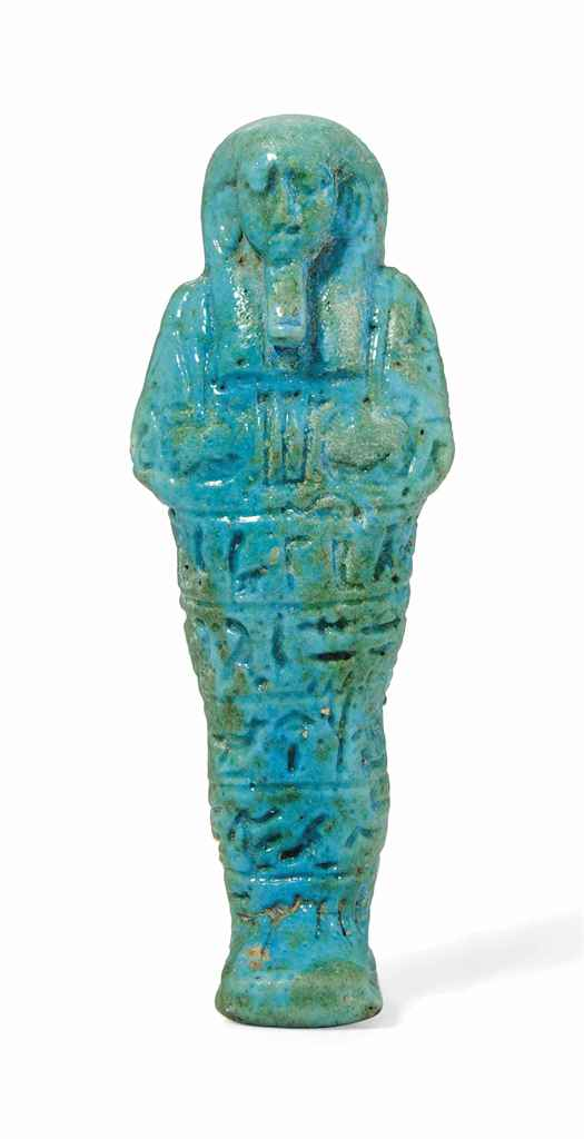 An egyptian turquoise faience shabti for the prophet of for Faience turquoise