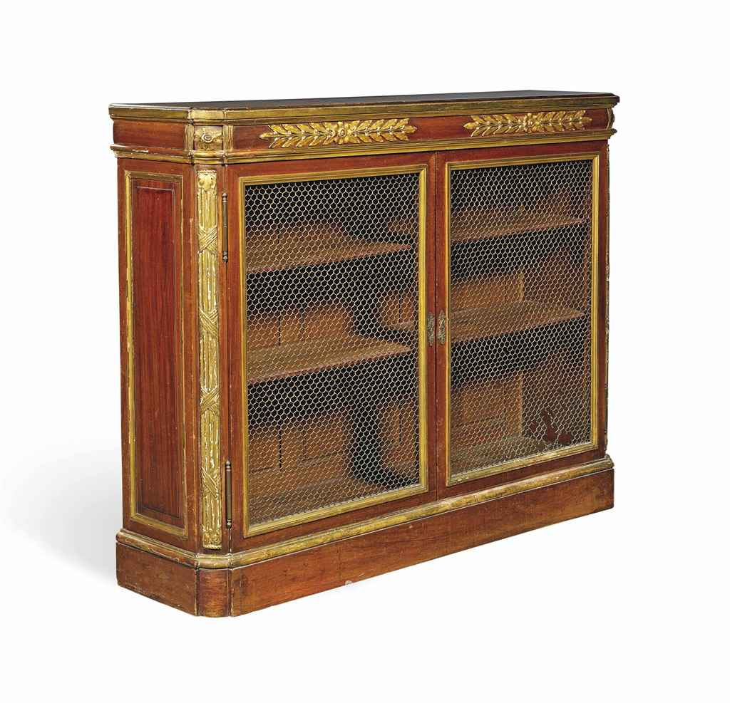 Http 2014 04 16 Never 07 Christies Parcel Kristal Pja 1637 A French Mahogany And Gilt Bibliotheque Late 19th Century D5784822g