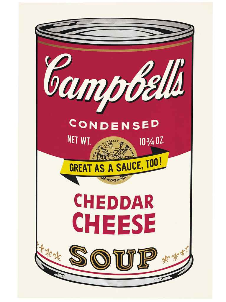 andy warhol cheddar cheese from campbell 39 s soup ii f s christie 39 s. Black Bedroom Furniture Sets. Home Design Ideas