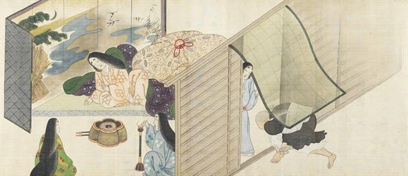 A Japanese Shunga Scroll Edo Period 19th Century