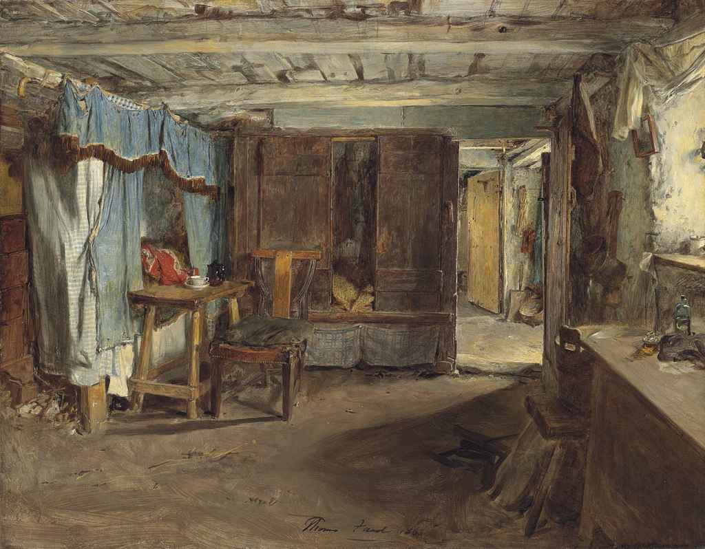 Thomas Faed R A 1826 1900 Cottage Interior Christie S