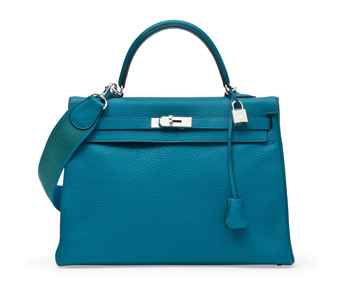 A BLEU IZMIR LEATHER KELLY SO SPORT  BAG