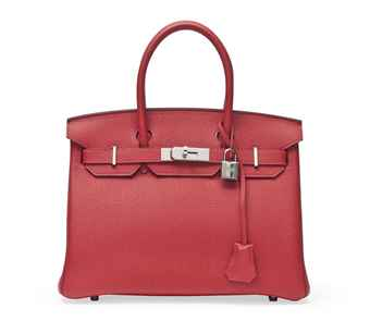 A GERANIUM LEATHER BIRKIN BAG