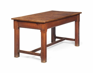 An Oak And Pitch Pine Centre Or Kitchen Table Second