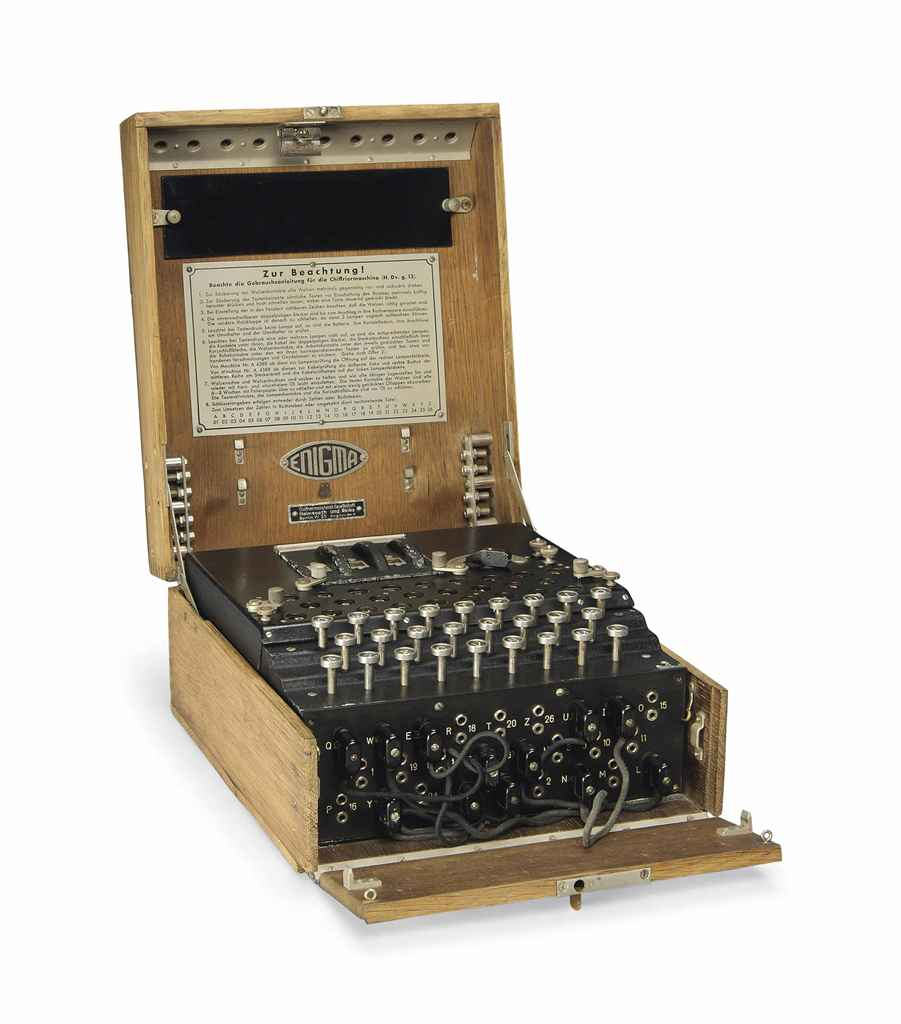 A THREE-ROTOR ENIGMA CIPHER MACHINE , CIRCA 1939 | Christie's