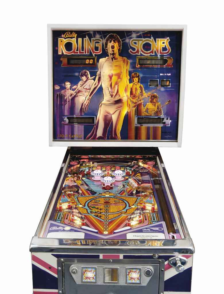 A SOLID STATE ROLLING STONES PINBALL MACHINE BY BALLY
