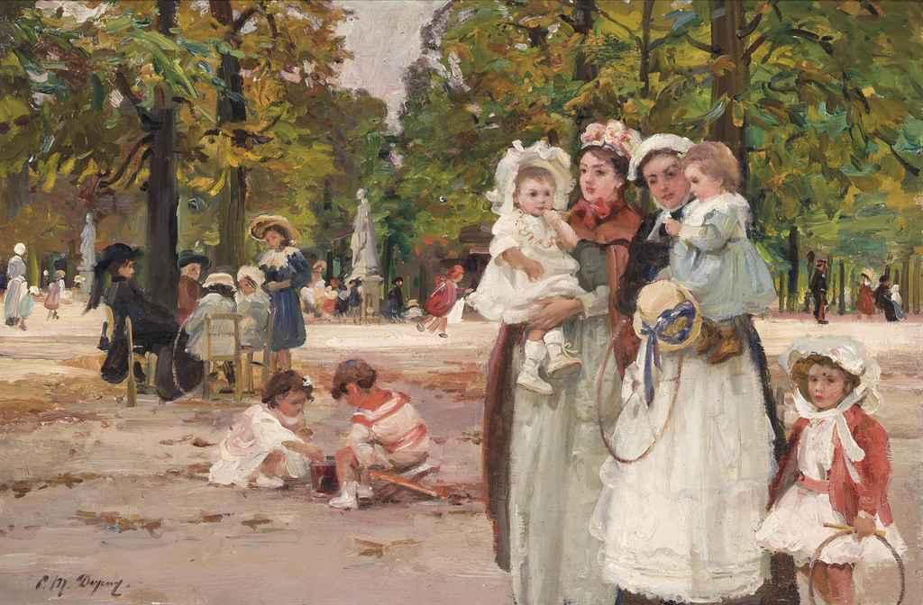 Paul michel dupuy french 1869 1949 au jardin des for Au jardin des tuileries