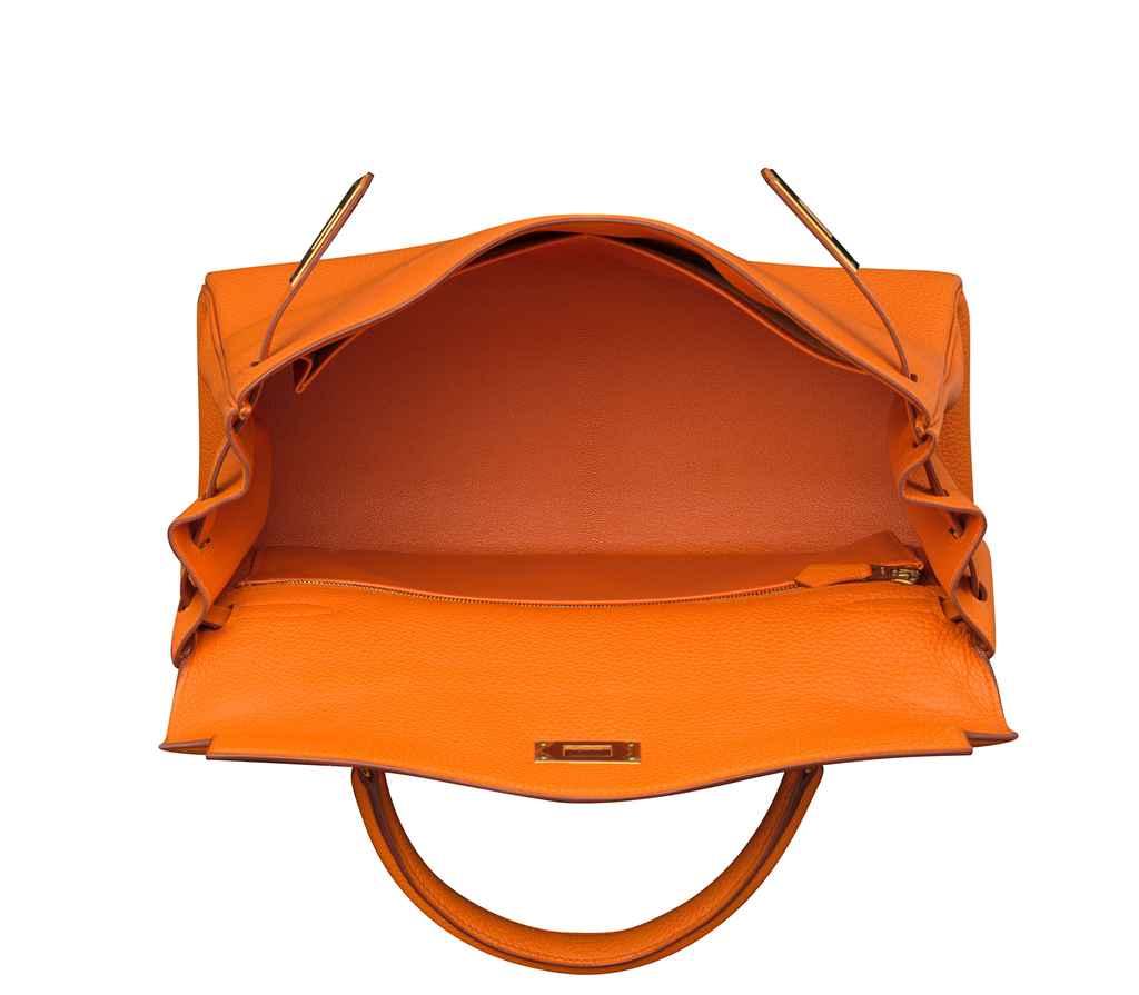 an orange h togo leather retourne kelly 32 bag with gold hardware herm d5844038 004g.jpg b1058155a3f1e