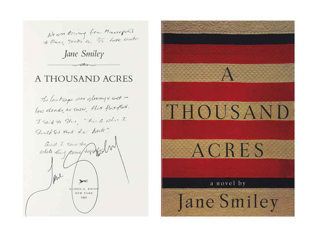 jane smileys a thousand acres essay A thousand acres is a 1991 novel by american author jane smiley it won the  1992 pulitzer prize for fiction, the national book critics circle award for fiction in .