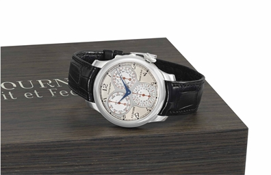 f p journe a very fine platinum ergonomic chronograph wristwatch with 100th of a second 20. Black Bedroom Furniture Sets. Home Design Ideas