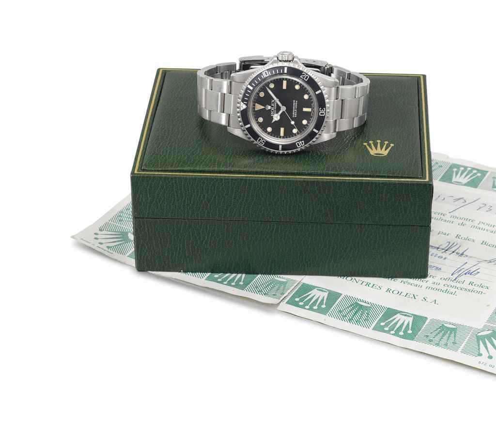Rolex. A stainless steel automatic wristwatch with sweep ...