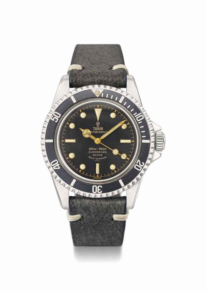 Tudor. A rare stainless steel automatic wristwatch with ...