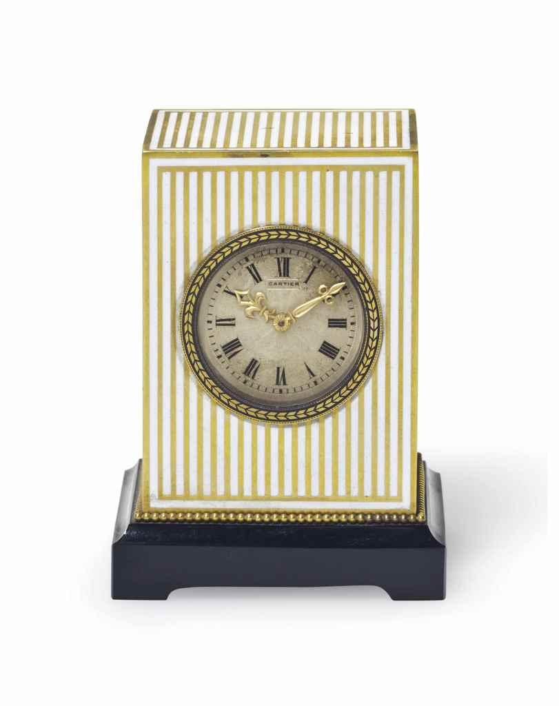 Http 2015 06 23 Never 07 Christies Wooden Clock Bamboo 1293 Red Lightblue Lightgreen Light Cartier A Rare And Elegant Gold On Silver Enamel Mignonette Desk C D5911326g