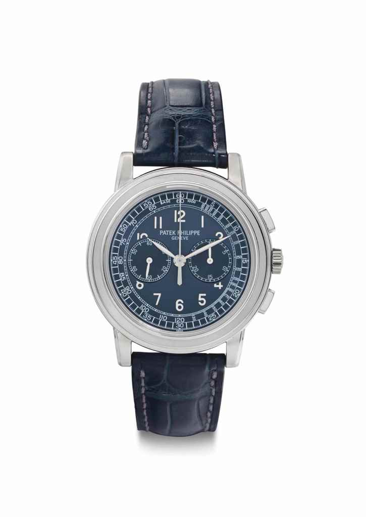 Patek Philippe. A Large and Fine Platinum Chronograph ...