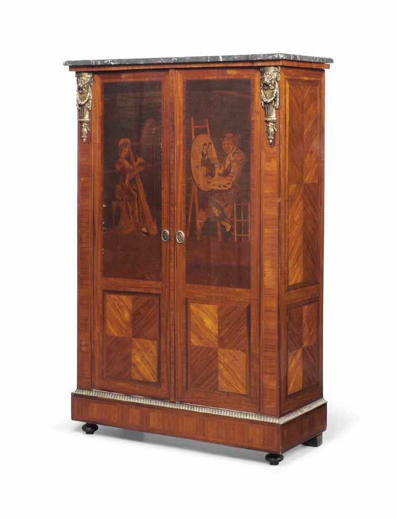 A french ormolu mounted tulipwood lacewood rosewood and for Meuble for french furniture