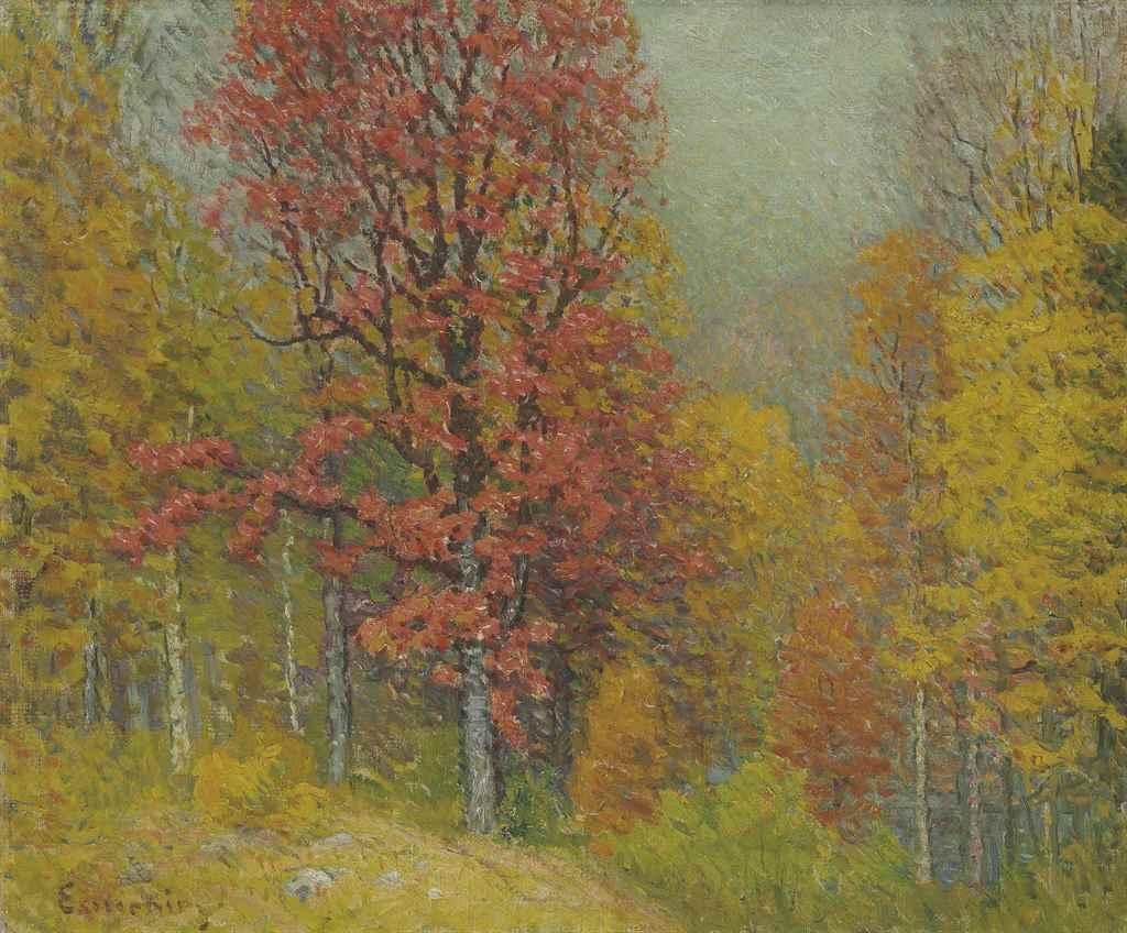 John Joseph Enneking 1841 1916 Autumn Landscape
