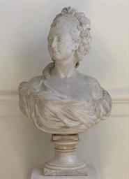 buste en platre presume representer francoise louise de pange 1757 1777 future duchesse de. Black Bedroom Furniture Sets. Home Design Ideas
