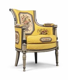 a louis philippe grey painted fauteuil mid 19th century christie s