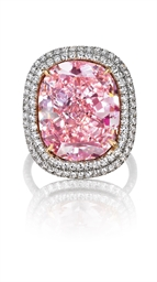 The Largest Cushion Shaped Fancy Vivid Pink Diamond At