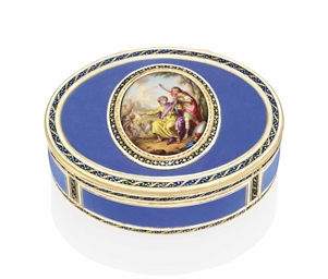 a german enamelled gold snuff box by les fr res toussaint fl 1752 1803 marked hanau. Black Bedroom Furniture Sets. Home Design Ideas