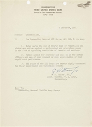 PATTON George S Typed Letter Signed GS Patton Jr