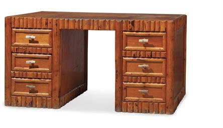 An American Fir 39 Ranch 39 Desk By George Blackford Billings Montana Circa 1950 Christie 39 S