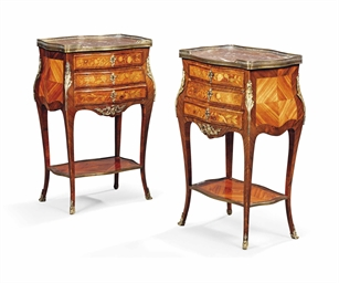 A pair of french ormolu mounted kingwood tulipwood and - Table de nuit new york ...
