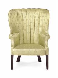 A federal mahogany barrel back easy chair philadelphia for Furniture r us philadelphia