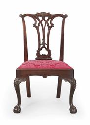 The deshler family chippendale carved mahogany side chair for Furniture r us philadelphia