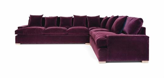 A Plum Velvet Large Corner Sofa Modern Christie S