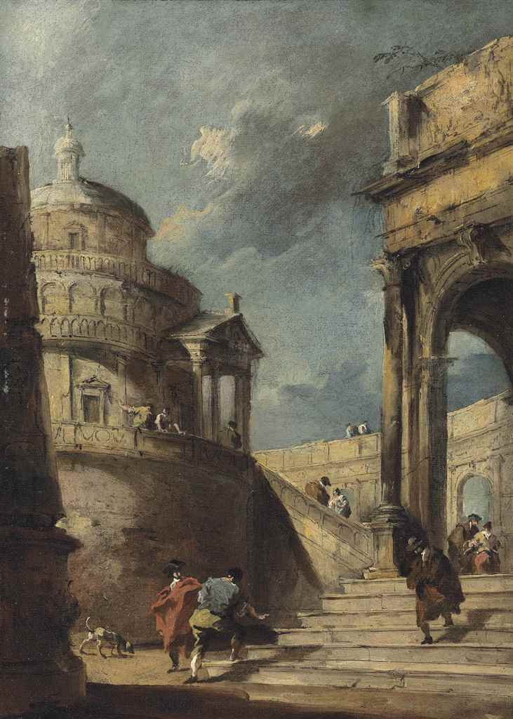 Francesco Guardi: Francesco Guardi (Venice 1712-1793) , A Capriccio Of A