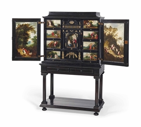 cabinet anversois d 39 epoque baroque les panneaux attribues a l 39 atelier de frans francken ii. Black Bedroom Furniture Sets. Home Design Ideas