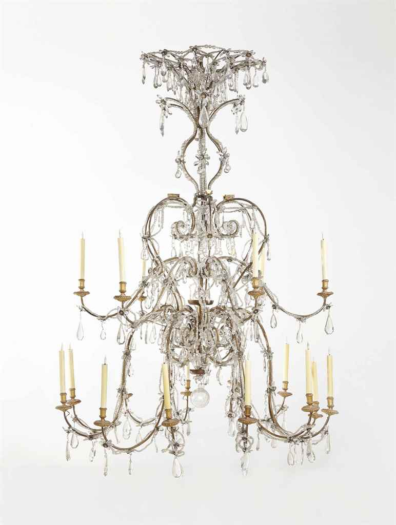 lustre a lace d epoque baroque italie milieu du. Black Bedroom Furniture Sets. Home Design Ideas