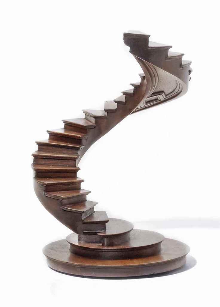 escalier de maitrise en spirale en noyer france fin du xixeme ou xxeme siecle christie 39 s. Black Bedroom Furniture Sets. Home Design Ideas