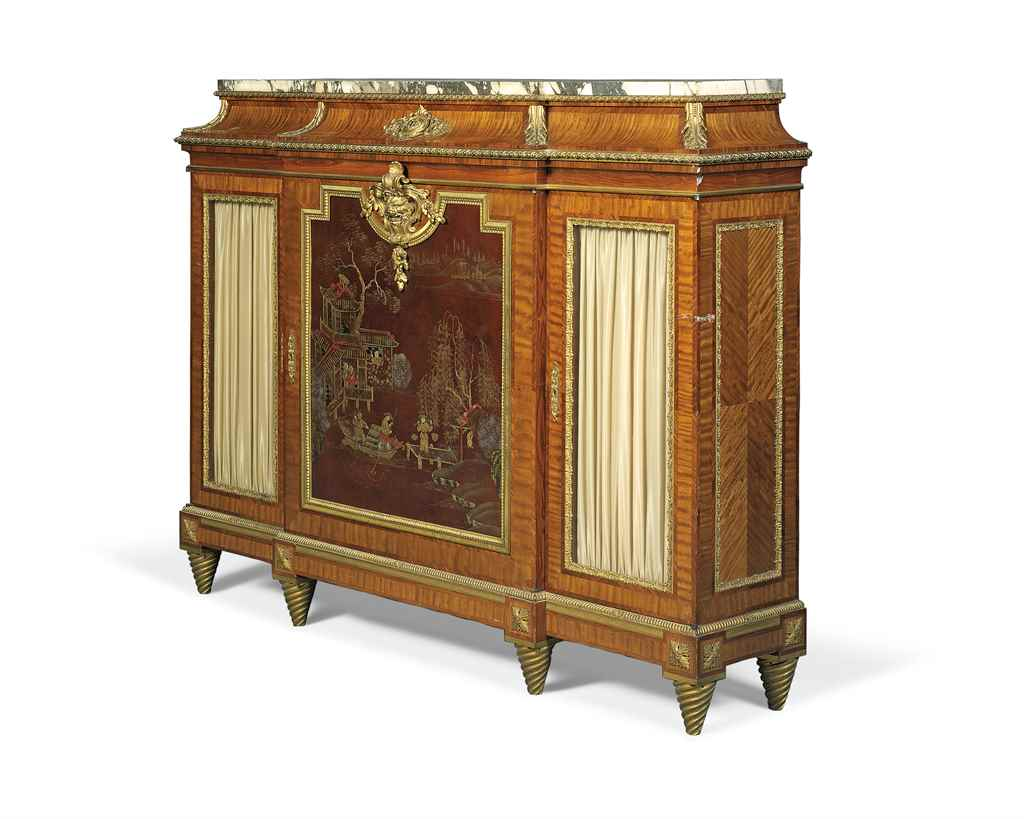 A french ormolu mounted chinese lacquer and kingwood for Meuble for french furniture
