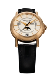 PATEK PHILIPPE A FINE AND RARE 18K PINK GOLD LIMITED EDITION AUTOMATIC ANNUAL CALENDAR