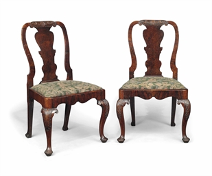 A pair of george i walnut side chairs early 18th century for Chair design terminology