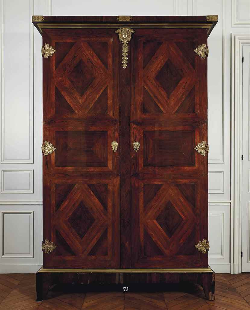 armoire d 39 epoque louis xiv attribuee a francois lieutaud. Black Bedroom Furniture Sets. Home Design Ideas