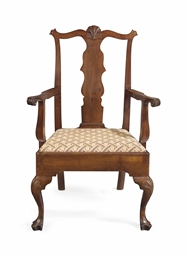 A chippendale carved cherrywood armchair philadelphia for Furniture r us philadelphia