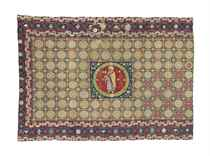 A PART-SILK NEEDLEWORK CARPET