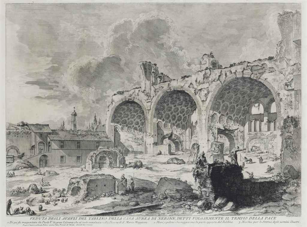 Giovanni battista piranesi 1720 1778 veduta degli for Planimetrie della casa degli ospiti