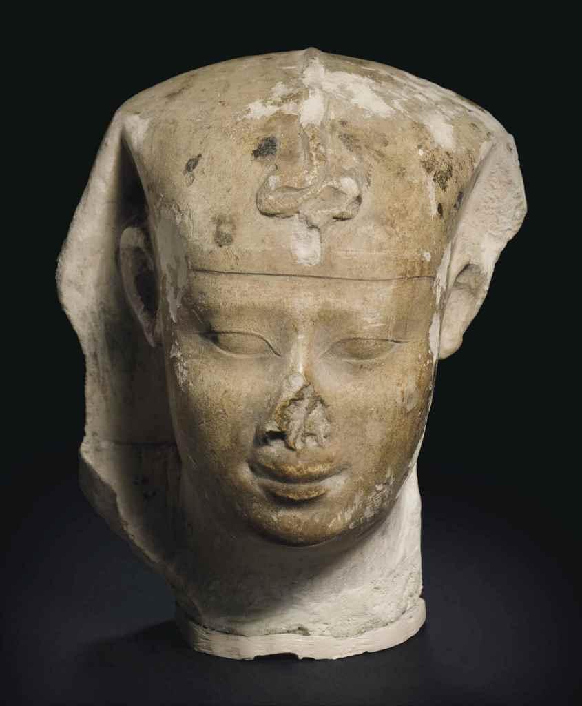 An egyptian limestone sculptor s model of ptolemy ii