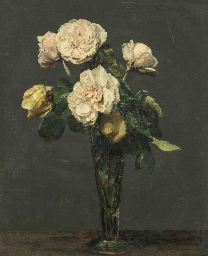 henri fantin latour 1836 1904 roses th dans une fl te champagne christie 39 s. Black Bedroom Furniture Sets. Home Design Ideas