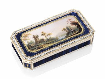 a german enamelled gold snuff box hanau circa 1780 stamped with the crowned letter r and two. Black Bedroom Furniture Sets. Home Design Ideas