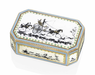 a swiss or german enamelled gold snuff box maker 39 s mark i g with crown above geneva or hanau. Black Bedroom Furniture Sets. Home Design Ideas