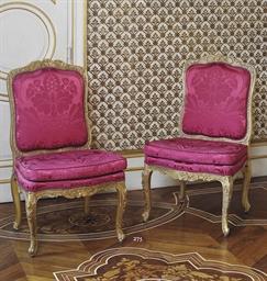 Paire de chaises du debut de l 39 epoque louis xv vers 1730 - Carreau de chaise ...