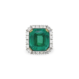 an emerald and diamond ring | christie's