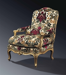 a louis xv giltwood 39 chauffeuse 39 fauteuil by jean avisse mid 18th century christie 39 s. Black Bedroom Furniture Sets. Home Design Ideas